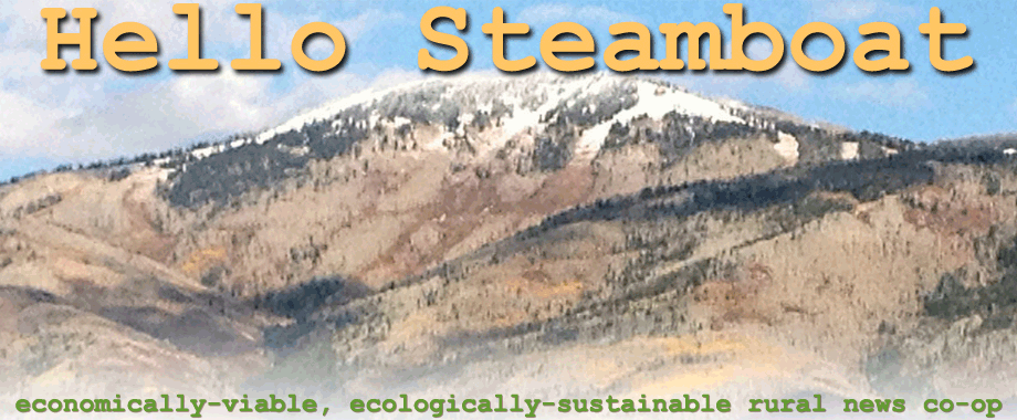 Hello Steamboat concept to replace a legacy daily newspaper in decline without any more timber waste, paper mills and print